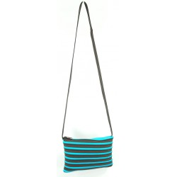 Sac Rectangle Marron et Turquoise