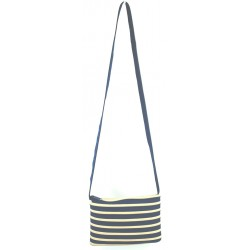 Sac Rectangle Bleu Marine et Beige